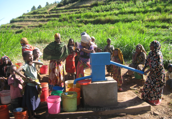 Tema village, fresh water access to the villagers.